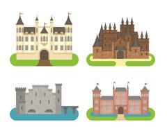Castle cartoon vector illustration Stock Illustration