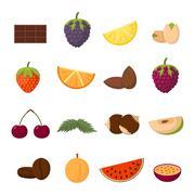 Fruits vector illustration Stock Illustration