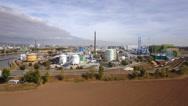 Industrial area Industriepark Infraserv Hoechst Frankfurt Stock Footage