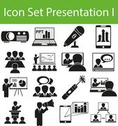 Icon Set Presentation Piirros