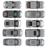 Set of Top view cars on white background Stock Illustration