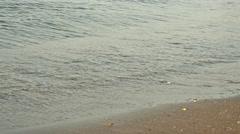 Woman legs walking on golden sand beach. 4K Stock Footage