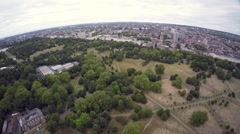 Aerial panoramic view of London Hyde Park Stock Footage