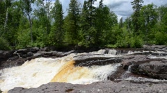 Headwaters at Tettegouche State Park, Minnesota  Stock Footage