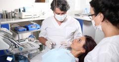 Dentist Practitioner Man Hold Check Up Mirror Examining General Dentistry Clinic Stock Footage