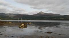 Brodick Bay Arran Scotland Stock Footage