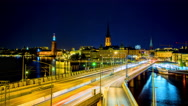 Bridge in Stockholm, Sweden Stock Footage