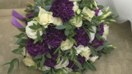 Wedding bouquet of bride with roses Stock Footage