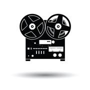 Reel tape recorder icon Stock Illustration