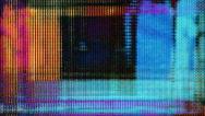 TV screen pixels flicker with video motion - Video Flux 066 HD, 4K Stock Footage