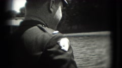 1946: police person is walking back and talking to someone WASHINGTON, DC Stock Footage