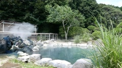 Hot spring hells in Beppu, Japan Stock Footage