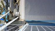 4K Sailboat Mast, Sail Boat and Sailing, Ship Sea Ocean and Rope and Sky Stock Footage