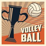 Volleyball sport and hobby design Stock Illustration