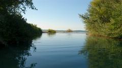 Elk Rapids River to Lake Michigan Stock Footage