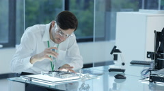 4K Electronic engineer working in the lab, testing 3D printer & circuit boards Stock Footage