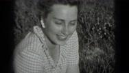1946: just girl WASHINGTON, DC Stock Footage