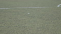 Young boys playing in a youth soccer league game. Stock Footage