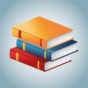 Book of education and literature concept Stock Illustration