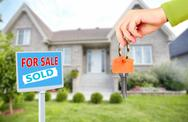 Hand with a house keys. Stock Photos
