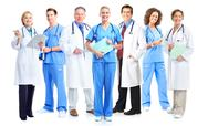 Group of medical doctors and nurses. Stock Photos