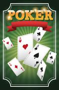 Casino and Cards of Poker design Stock Illustration