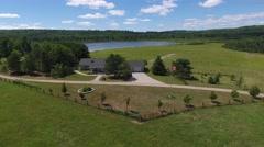 Farm house farm land Stock Footage