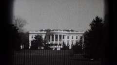 1946: back of the white house view WASHINGTON, DC Stock Footage