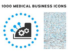 Cash Register Icon with 1000 Medical Business Pictograms Piirros