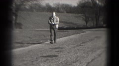 1946: man in suit is seen walking WASHINGTON, DC Stock Footage