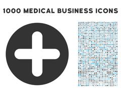 Create Icon with 1000 Medical Business Pictograms Stock Illustration