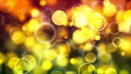 HD Loopable Background with nice yellow bubbles Stock Footage