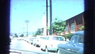 1963: car is seen CALIFORNIA Stock Footage