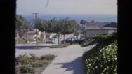 1963: view of private house and street CALIFORNIA Stock Footage
