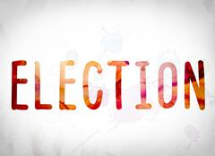 Election Concept Watercolor Word Art Stock Illustration