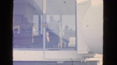 1963: watching out through the glass window CALIFORNIA Stock Footage