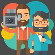 Jourmalist and news reporter Stock Illustration