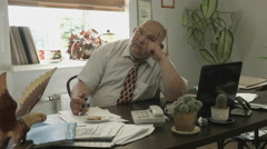 Ungraded: Boss Desk / Manager Office / Boss Doing Nothing / Creative Thinking / Stock Footage