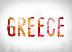 Greece Concept Watercolor Word Art Piirros
