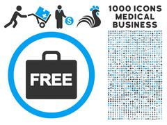 Free Accounting Icon with 1000 Medical Business Pictograms Stock Illustration