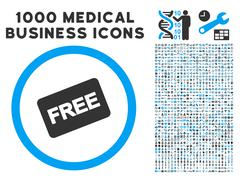 Free Card Icon with 1000 Medical Business Symbols Stock Illustration