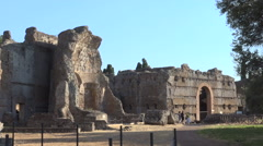 Hadrian's Villa, Tivoli, Italy, view of Triclinium Stock Footage