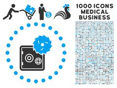 Hacking Theft Icon with 1000 Medical Business Pictograms Piirros