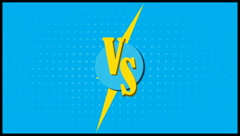 Versus letters fight backgrounds comics style animation design. Stock Footage