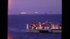 1963: large cargo ship is moving through the blue waters of the sea CALIFORNIA Stock Footage