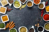 Various dried herbs and spices. Stock Photos