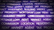 REAL ESTATE Keywords Background, Loop, 4k Stock Footage