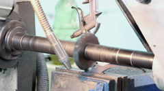 Metal working by a mill Stock Footage