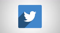 8k - Twitter square logo symbol Stock Footage