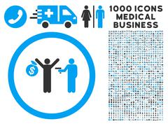 Robbery Icon with 1000 Medical Business Pictograms Stock Illustration